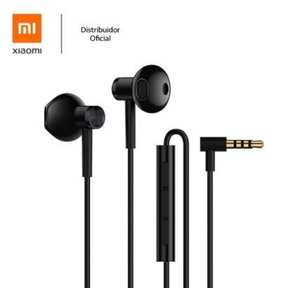 Fone de ouvido com fio Mi Dual Driver Earphones Xiaomi Preto Xiaomi - Unissex