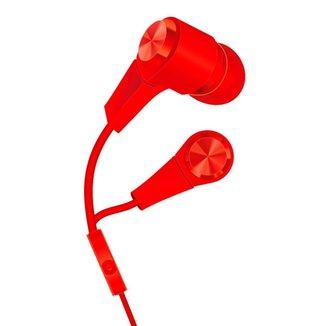 Fone de Ouvido Hayom FO2815 - com Microfone - Vermelho - 281015
