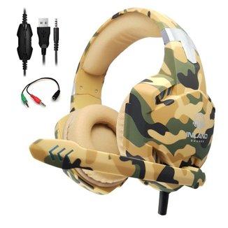 Fone de ouvido Headset Gamer Camuflado Microfone G2000 Ps4 Celular PC