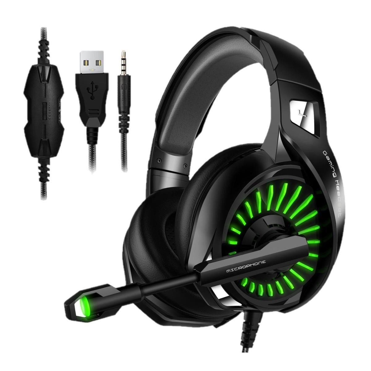 Fone de ouvido Headset Gamer Microfone Compativel Ps4/X-one Celular PC LM1 Inland