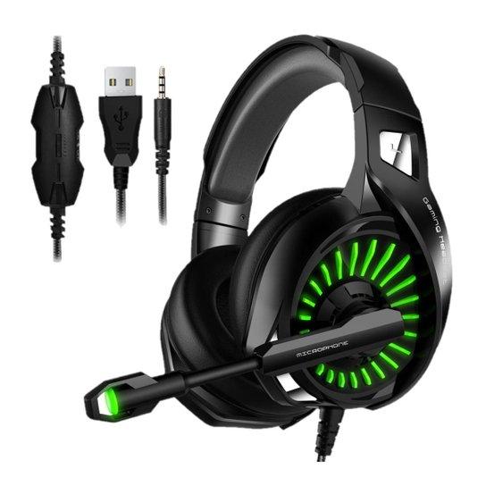 Fone de ouvido Headset Gamer Microfone Compativel Ps4/X-one Celular PC LM1 Inland - Vermelho+Verde