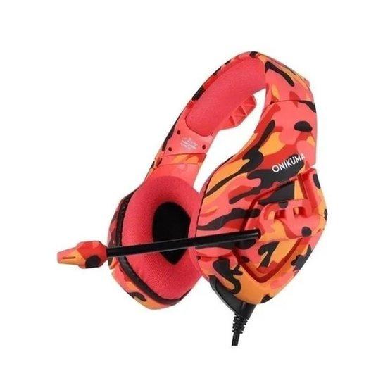 Fone de ouvido Headset Gamer Microfone Ps4/X-one Celular PC (K1B-CAM-VERMELHO) - Vermelho