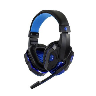 Fone de Ouvido Headset Gamer Sate Preto/Azul com Luz AE-327B