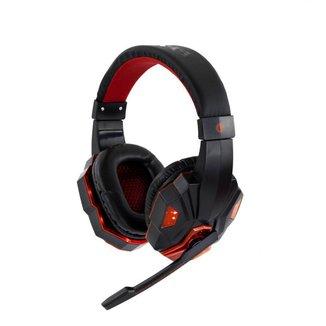 Fone de Ouvido Headset Gamer Sate Preto/Vermelho com Luz AE-327R