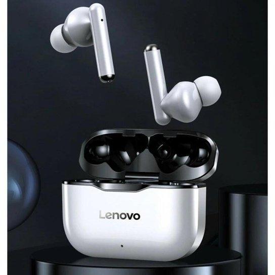 Fone de Ouvido Lenovo Livepods Lp1 Com Redução Ruído Bluetooth 5.0 Cor: - Branco