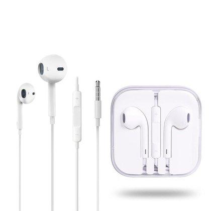 Fone De Ouvido Para Iphone Com Microfone E Controle De Volume Branco FO-IP5