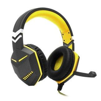 Fone Headset Gamer Ps4 Xbox Pc Gamer P2 Microfone Amarelo