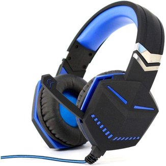 Fone Headset Gamer Ps4 Xbox Pc Gamer P2 Microfone Azul