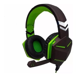 Fone Headset Gamer Ps4 Xbox Pc Gamer P2 Microfone Verde