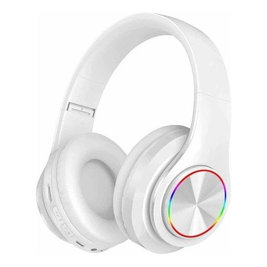 Fone Headset Sem Fio 5.0 Com Led Dobravel Branco - Branco