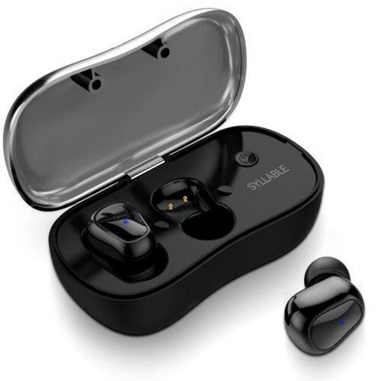 Fone Sem Fios Bluetooth Syllable Power Bass Sound System - Preto