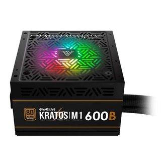 Fonte Gamdias Kratos M1 600 Watts 80 Plus RGB
