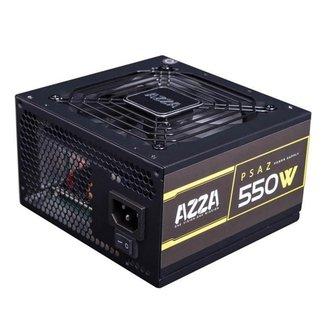 Fonte Gamer AZZA 550W 80 PLUS Bronze PFC ATIVO PSAZ-550W