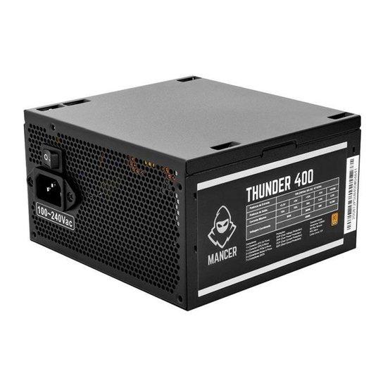 Fonte Mancer Thunder 400W Bronze 80 Plus, MCR-THR400-BL01 - Preto