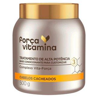 Força Vitamina Máscara de Tratamento para Cabelos Cacheados 500g