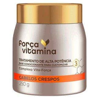 Força Vitamina Máscara de Tratamento para Cabelos Crespos 250g