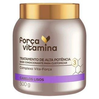 Força Vitamina Máscara de Tratamento para Cabelos Lisos 500g