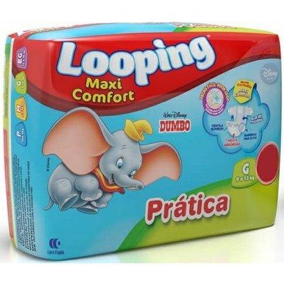 Fralda Descartável Looping Disney Maxi fort Prática Grande 18 Unidades - Unissex -