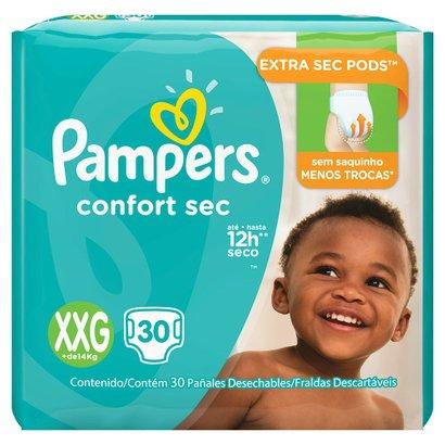 Fralda Descartável Pampers Confort Sec XXG 30 Unidades - Unissex -