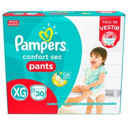 Fralda Descartável Pampers Pants XG 30 Unidades - Unissex -