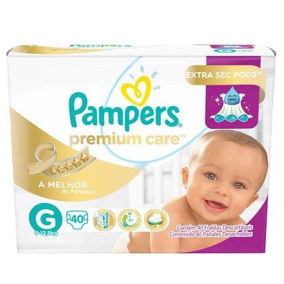Fralda Descartável Pampers Premium Care G 40 Unidades - Unissex -