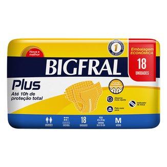 Fralda Geriatrica Bigfral Plus M 18 Unidades