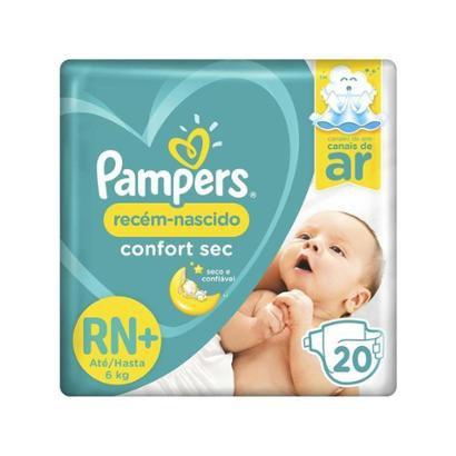 Fralda Pampers Confort Sec Tam. RN+