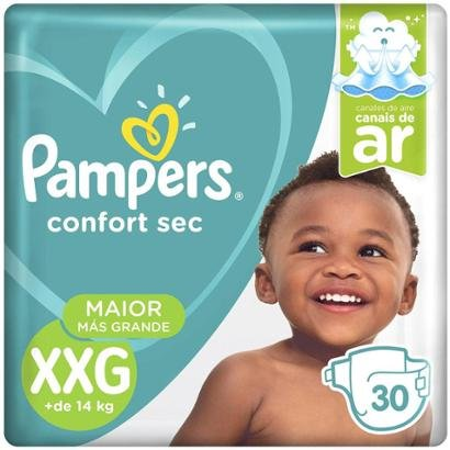 Fralda Pampers Confort Sec Tam. XXG