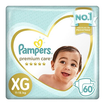 Fralda Pampers Premium Care XG - Unissex