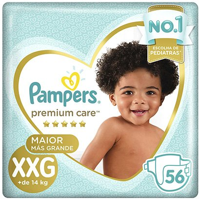 Fralda Pampers Premium Care XXG - Unissex