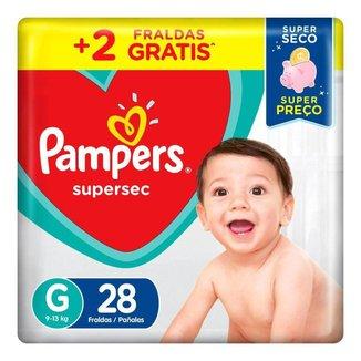Fralda Pampers Supersec Tamanho G 28 unidades