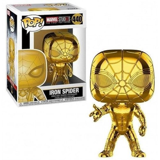 FUNKO POP! IRON SPIDER MARVEL 440 - Dourado