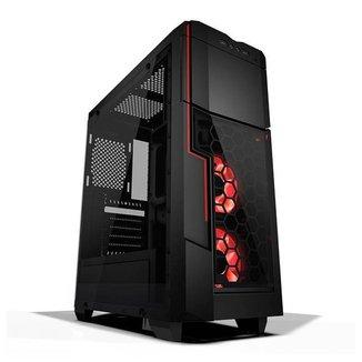 Gabinete Gamer AZZA Crimson 211G Lateral de Vidro LED  CSAZ-211G