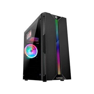 Gabinete Gamer Hayom GB1704 RGB ATX Preto