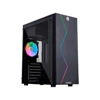 Gabinete Gamer Hayom GB1705 RGB ATX Preto