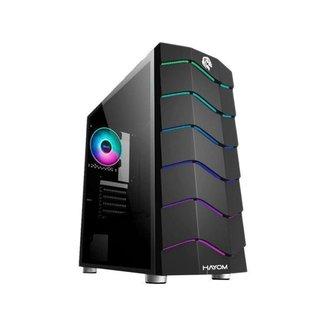 Gabinete Gamer Hayom GB1711 RGB ATX Preto