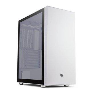 Gabinete Gamer Pichau HX500 Lateral De Vidro White, PG-HX5-W01