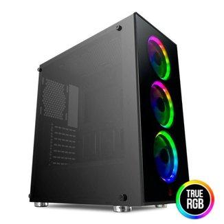 Gabinete Gamer Pichau Pouter II Led RGB, Vidro Temperado, PGPO-02-RGB