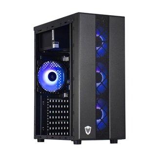 Gabinete Gamer Sate 4 Coolers Fans RGB Preto com Lateral em Acrílico K878