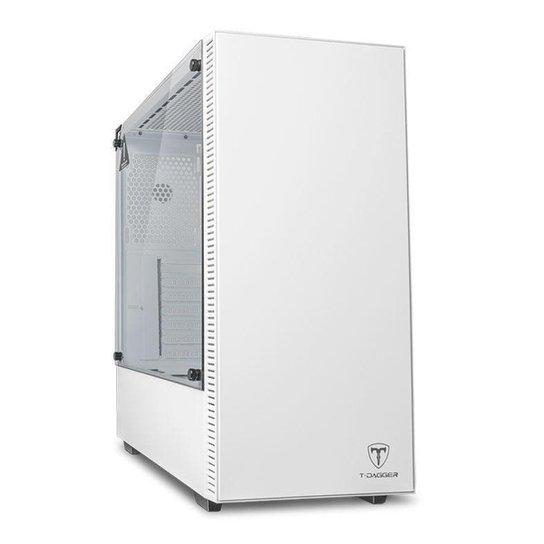 Gabinete Gamer T-Dagger Cube Branco Lateral Vidro, T-TGC305W - Branco