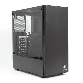 Gabinete Gamer T-Dagger Cube Preto Lateral Vidro, T-TGC305B