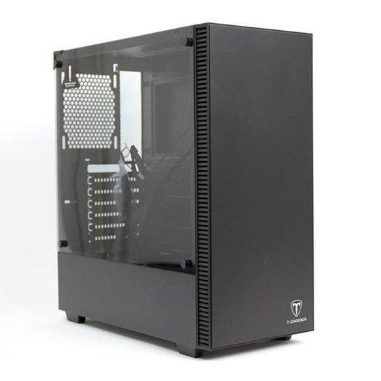 Gabinete Gamer T-Dagger Cube Preto Lateral Vidro, T-TGC305B - Preto