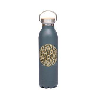 Garrafa Premium inox, 100% vedada, 600 ml, isolamento térmico,  à prova de riscos e vazamentos