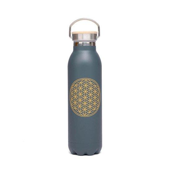 Garrafa Premium inox, 100% vedada, 600 ml, isolamento térmico,  à prova de riscos e vazamentos - Grafite
