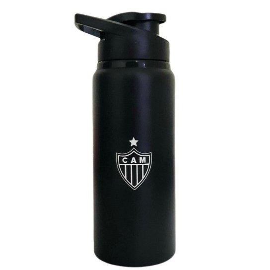 Garrafa Squeeze Atlético Mineiro Bico 600ml Oficial - Preto