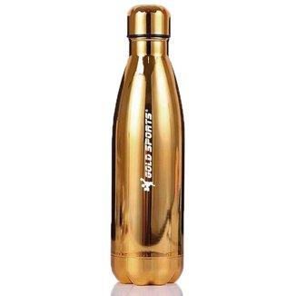 Garrafa Térmica em Inox 500 ml Gold Sports