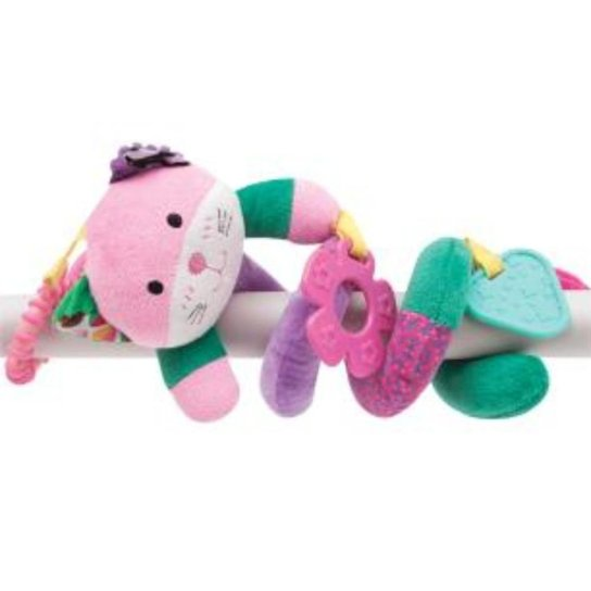 Gatinho Mola Happy Zoo Buba Baby - Rosa+Verde