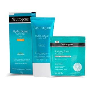 Gel facial Neutrogena hydro boost water 55g + Máscara Neutrogena hidrogel purifyng boost 30ml