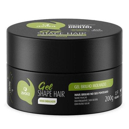 Gel Fixador Avora Gel Shape Hair Brilho Molhado 200g