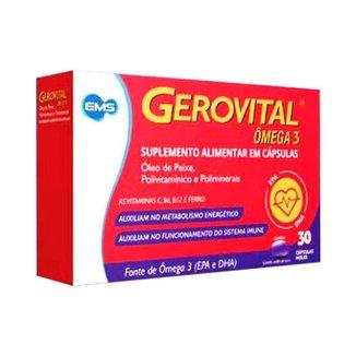 Gerovital Ômega 3 Polivitamínico com 30 cápsulas moles EMS